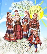 Русские народные песни. Рассказ детям
