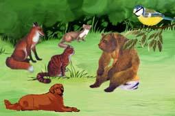 Детская басня про животных
