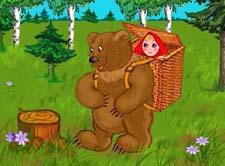 Русская народная сказка «Маша и медведь». Слушать