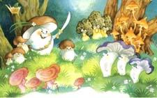 Русская народная сказка «Война грибов». Слушать