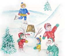 Рассказ «Хорошо зимой» детям