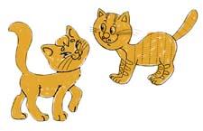 Волшебная сказка про двух кошек