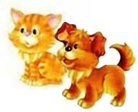 Сказка на ночь про котенка и щенка. Читать и слушать