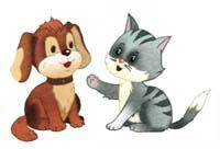 Сказка на ночь про кошку и собаку. Читать и слушать
