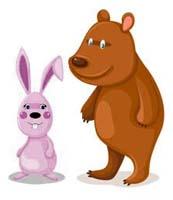 Сказка на ночь про зайца и медведя. Читать и слушать