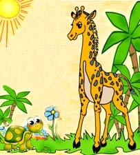 Сказка на ночь про черепаху и жирафа. Читать и слушать