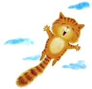 Сказка на ночь про летающего кота. Читать и слушать