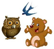 Сказка на ночь про медвежонка, сову и ласточку. Читать и слушать