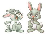 Сказка на ночь про двух жадных зайцев. Читать и слушать