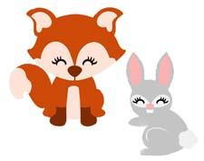 Сказка на ночь про зайчонка Скока и лису Алису. Читать и слушать
