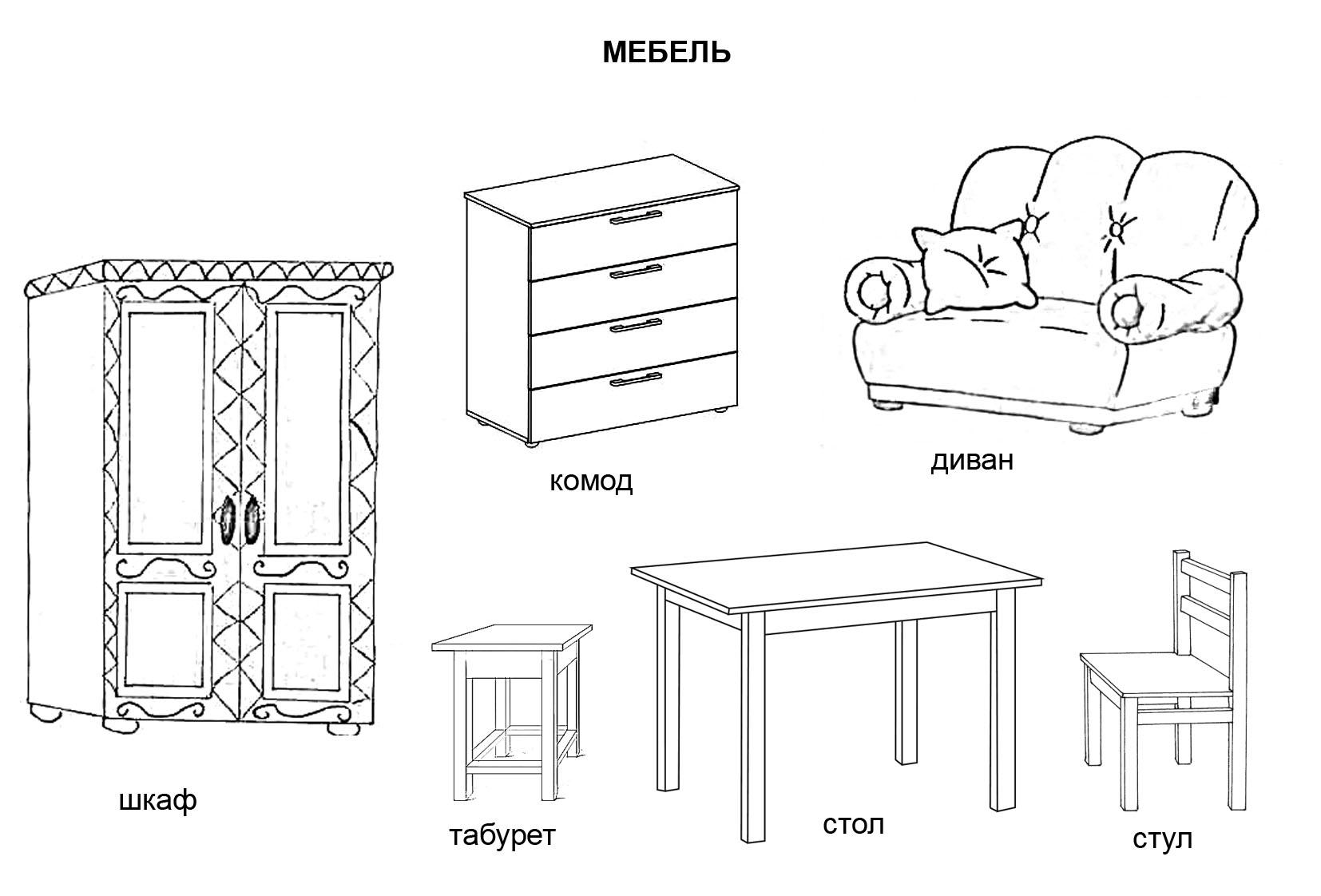 Раскраски мебель - 5