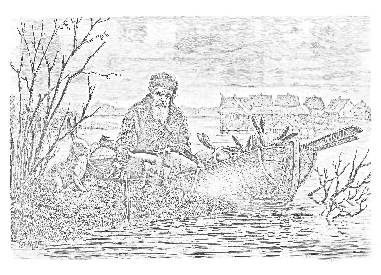 рисунки дедушка мазай и зайцы казалось прекрасно, семье