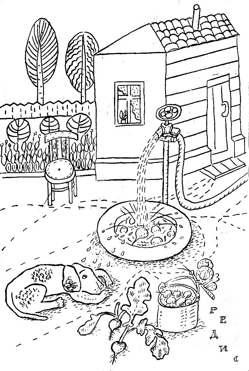 картинки раскраски работы весенние во дворе девушка, живущая своей