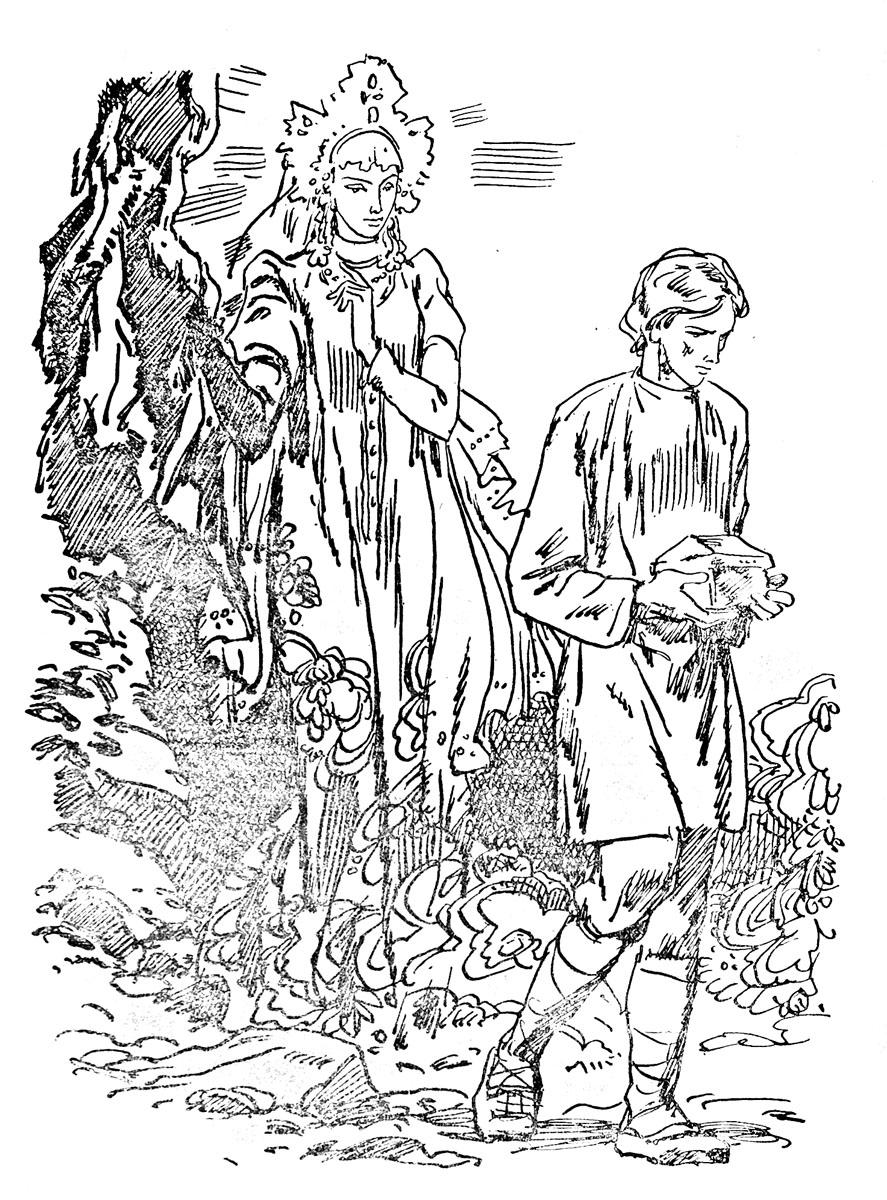 раскраска по сказке п п бажова медной горы хозяйка