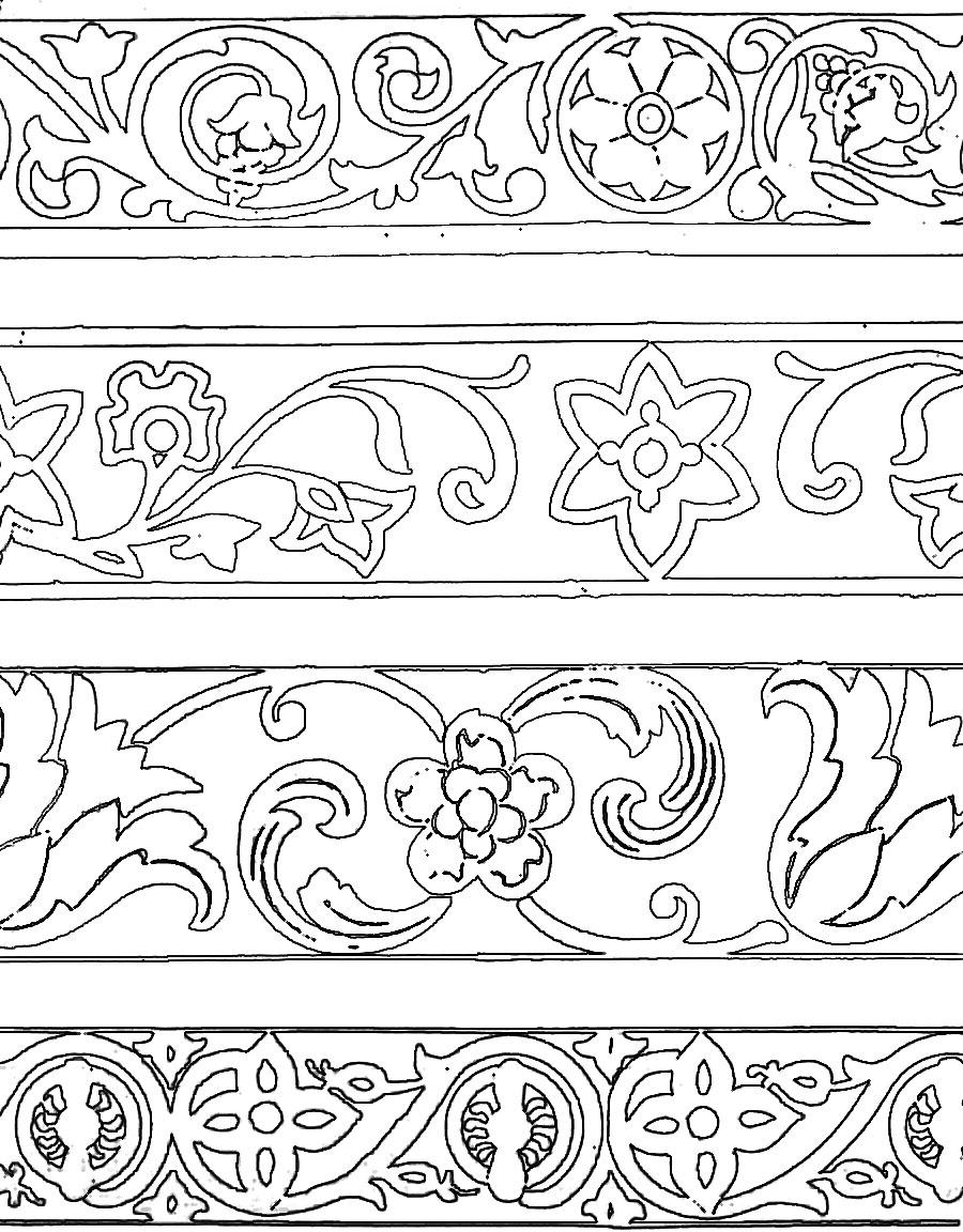 Ленточный орнамент схема