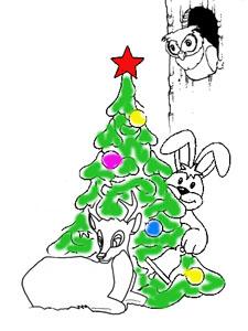 Заяц и Косуля (басня про Новый Год)