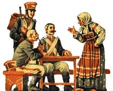 «Солдатская загадка». Русская народная сказка