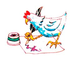 Шуточные стихи про курицу