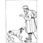 """Крылов """"Крестьянин и собака"""". Раскраска"""