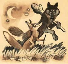 Сочиняем сказку про лису и волка