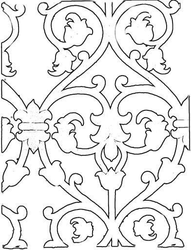 Фигурные орнаменты. Раскраска 2