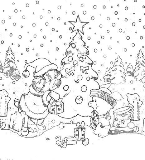 Раскраска «Новогодняя ёлка»
