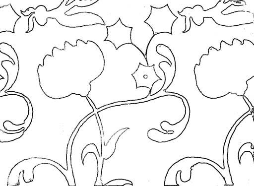 Орнамент из цветов. Раскраскa 2