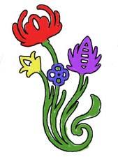 "Раскраски ""Орнамент из цветов"""