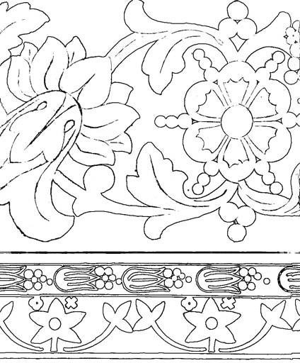 Природный орнамент. Раскраска 3