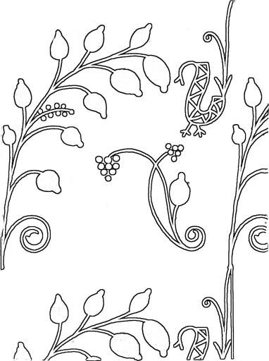 Растительный орнамент. Раскраска 2