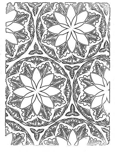 Узорчатый орнамент. Раскраска 1