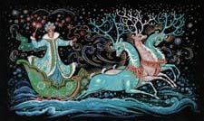 Новогодняя сказка про зиму и Снегурочку. Читать и слушать