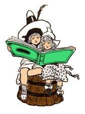 """Раскраски """"Дети читают книги"""""""
