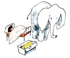 """Раскраска к стихотворению А.Барто """"Слон"""""""
