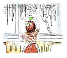 """Раскраска к стихотворению А.Барто """"Я знаю, что надо придумать"""""""